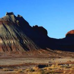 The pyramid in the painted desert.